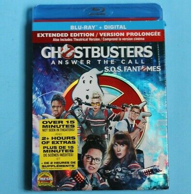 Ghostbusters: Answer the Call Blu-ray Disc + DIGITAL 2016 EXTENDED EDITION NEW