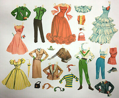 Vintage Paper Dolls  OUTFITS ONLY 1950's VGC #15