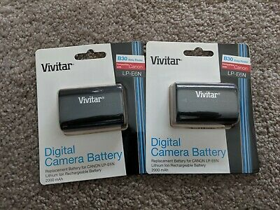 Vivitar Canon LP-E6N Replacement Batteries New