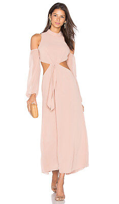 c5b07e3eb776 LPA Revolve NEW $298 Dress 43 In Nude Size XS NWT Maxi Cold Shoulder Cut Out
