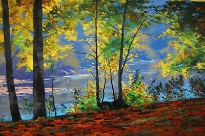 Handpainted Landscape Oil Painting On Canvas Colorful Art For Home Decor FA104A