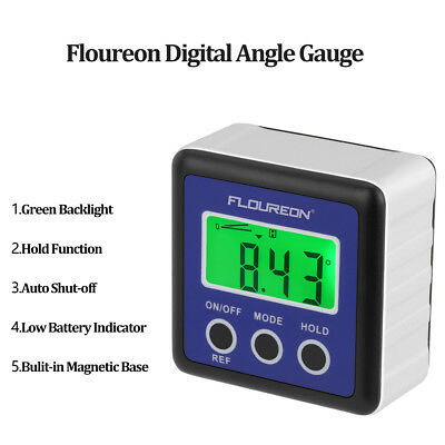Digits LCD Inclinometer Level Box Protractor Angle Finder Gauge Meter Bevel IP54