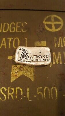 Prospectors Gold and Gems 1 Troy oz hand poured silver bar