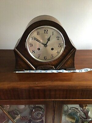Large Art Deco Mantle Clock Foreign Movement Fully Working With Original Key