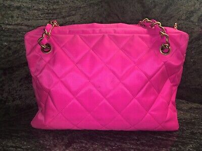 09e894504f10 AUTHENTIC USED CHANEL Pink Quilted Patent Leather Jumbo Double Flap ...