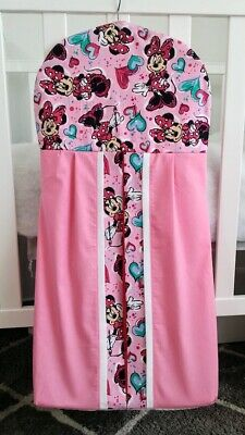 "New  ""Minnie Mouse"" Nappy stacker in pink and white trim"