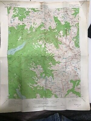 USGS Topo Map 15' Vtg 1953 Mt. Abbot Quadrangle Lake Thomas Florence Bear Ridge