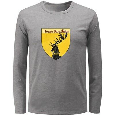 Game of Thrones House Baratheon Mens Boys Casual T-Shirts Graphic Print Tops Tee