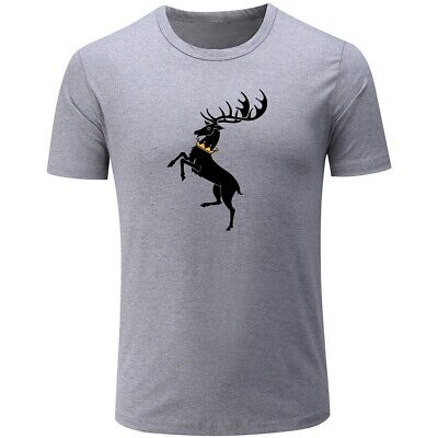 Game of Thrones House Baratheon Banner Mens Boys Casual T-Shirt Graphic Tops Tee