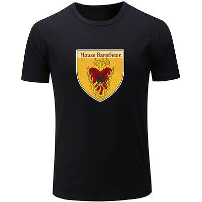 Game of Thrones House Baratheon Design Mens Boys Casual T-Shirts Graphic Tops