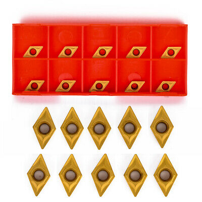 10pcs DCMT070204 YBC251 Carbide Inserts for Lathe Boring Bar Turning Tool