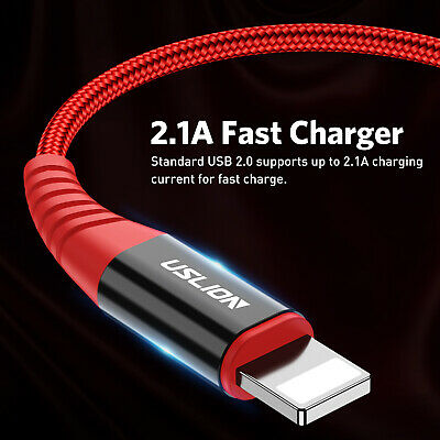 Fast Charger USB Lightning Data Sync Cable Lead For Apple iPhone XR X 7 8 6 5 5s