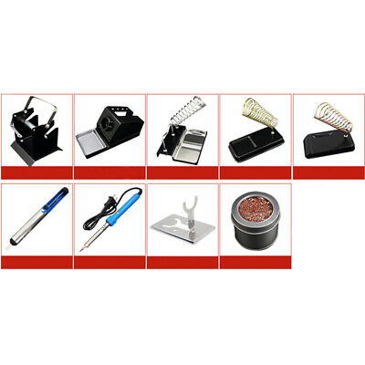 Electric Soldering Iron Holders Stand Bracket Solder Sucker Cleaning Tools Kit