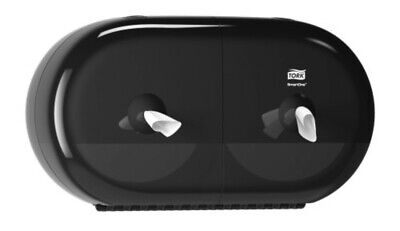 NEW Tork SmartOne Twin Mini Toilet Roll Dispenser Black T9 682008