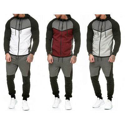 Men Tracksuit Hoodie Sweatshirt Sweat Tops Pants Sportswear Jogger Outfits Suits