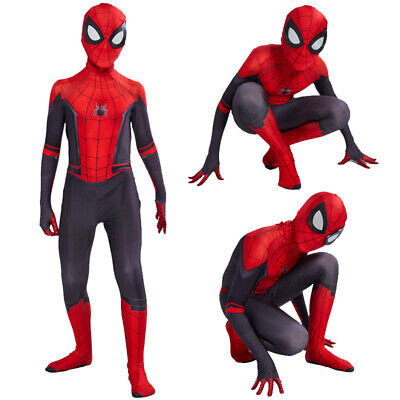 Spiderman Far From Home Cosplay Kids Jumpsuit Boys Spiderman Costumes Suit Mask