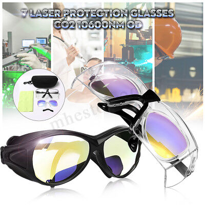 CO2 Laser Protection Goggles Safety Glasses 10600nm OD+7 Double Layer Eyewear !