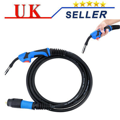 0-25mm 180A Mig Arc Welding Euro Torch Conversion Kit &  MB15AK X 4M Welder