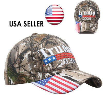 Trump 2020 MAGA Camo Embroidered Hat Keep Make America Great Again Cap USA j-c