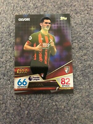 Match Attax Ultimate 2018/19 Lewis Cook Purple Parallel 033/050 Mint