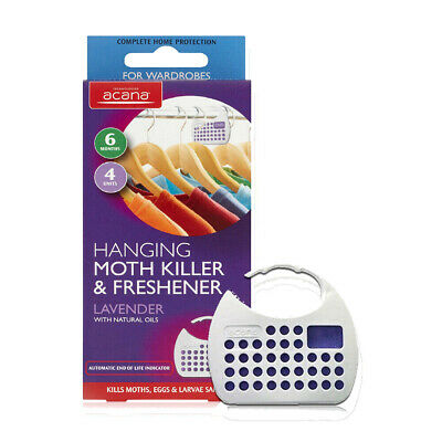 Acana Hanging Moth Killer and Fresheners with Lavender Fragrance Various Pack