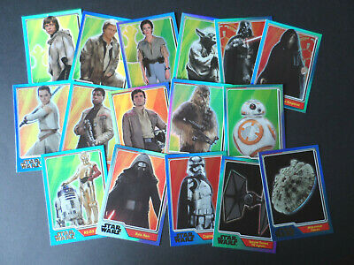 TOPPS STAR WARS THE FORCE AWAKENS BLUE FOIL CARDS (choose youre number)