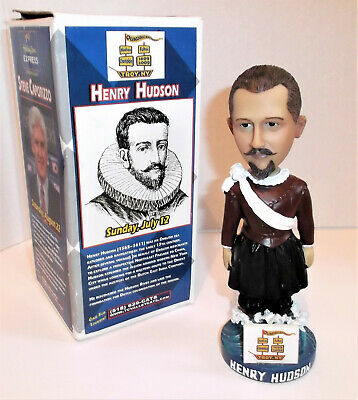 English Explorer HENRY HUDSON Bobblehead 2009 in Box Valley Cats Promo