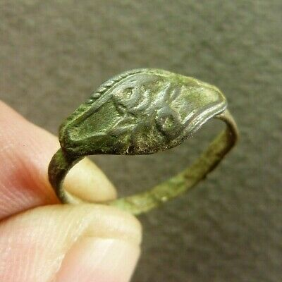 Ancient French Copper Flowers Ring - Artifact ca.19th Century AD size 4