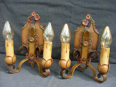 Pair of Antique Lincoln No 904 Double Arm Wall Sconces