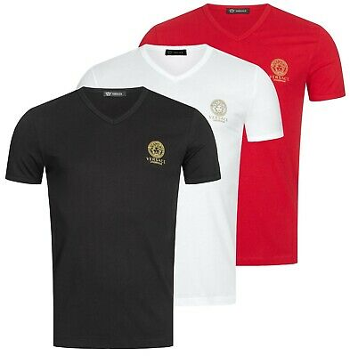 Versace T-Shirt Herren Basic Shirt V-Neck Body Shirts Classic  Underwear   NEU