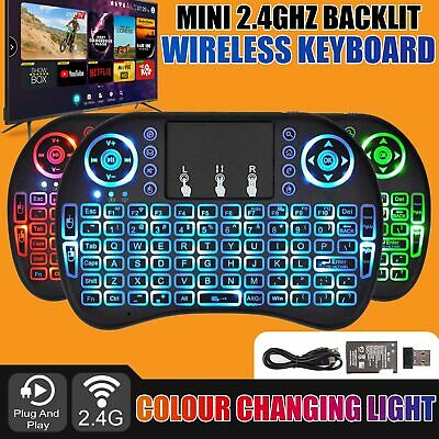 Smart Mini Backlight Wireless Keyboard With Touchpad Mouse2 PC Laptop Android TV