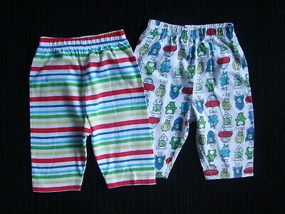 Baby clothes BOY 0-3m x2 Mothercare light cotton trousers aliens... SEE SHOP!