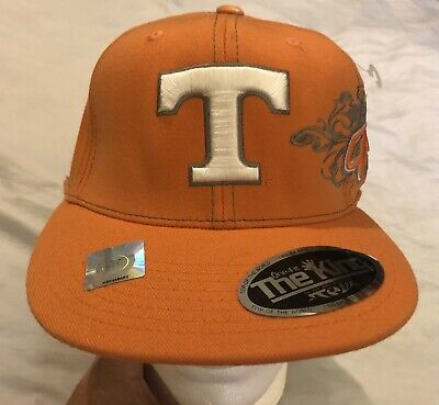 online store 4d0f1 5accf Tennessee Vols Volunteers Orange Cap Hat The King One Fit Fitted NCAA TOTW  NWT