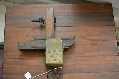 ANTIQUE Bronze & Wood VICE  MARINE, NAUTICAL OLD Rare LOOK Estate Fresh
