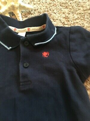 Janie and Jack Navy Blue with Crab Boys Polo Shirt Size 2