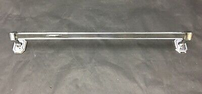 Vintage Chrome And Glass Towel Bar 1930's Deco