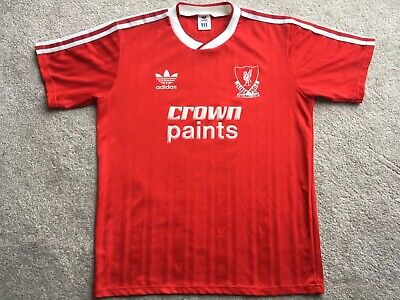 dd5d7ee1f Liverpool 1987 88 Rare Original Liverpool FC Adidas Crown Paints Shirt In  Large