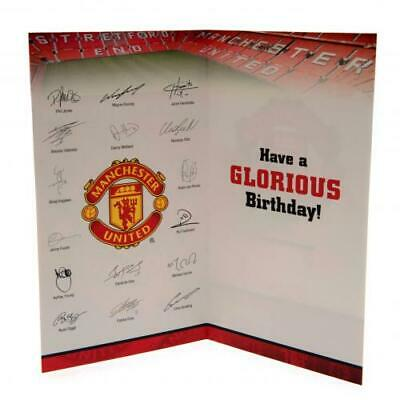 Manchester United FC No 1 Fan Birthday Card With Envelope Present New Xmas Gift