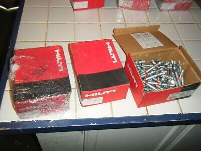 "3 Box 50 =150  HILTI KB-TZ 3/8"" X 3-3/4"" Wedge ANCHOR BOLTS #387510 for concrete"