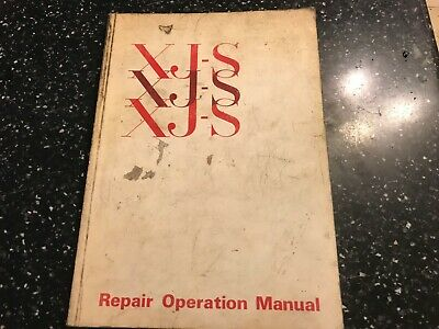 ORIGINAL JAGUAR XJS XJ-S Factory Workshop Manual 5344cc V12 BL 1975> AKM3455