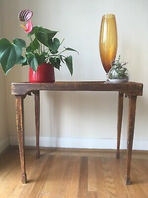 Antique Wooden Silverdale Haxyes Folding Table Tray Butler's