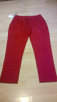 Bnwt Girls Cerise 100% Cotton Trousers Age 13 Years