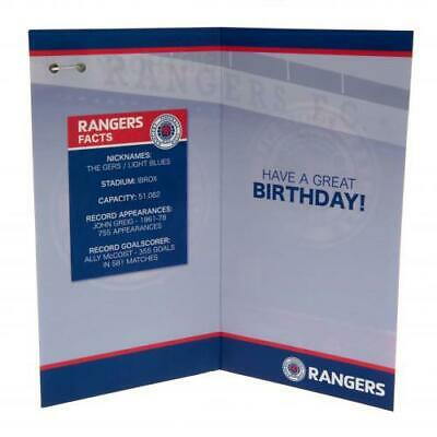 Glasgow Rangers FC Happy Birthday Card With Outer Envelope Present Gift Xmas New