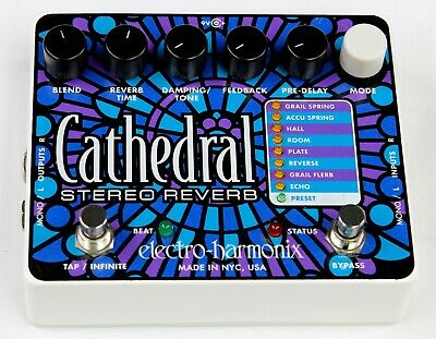 Electro-Harmonix Cathedral Stereo Reverb Guitar Effects Pedal, Ex #ISI5387 T