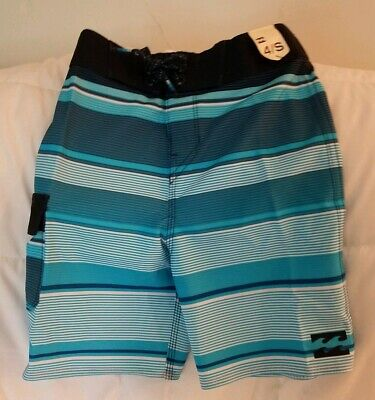 141221c62987 BILLABONG Boys Toddler Blue Striped Bathing Suit Trunks Size 4 Quick Dry  $39.95