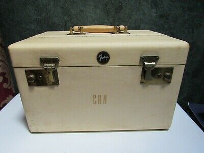 Vintage SHORTRIP SHORT TRIP Leather Train Case Travel Bag Luggage Off White