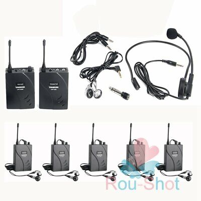 Takstar Wireless Tour Guide UHF-938 Translation System 1Transmitter +6 Receivers