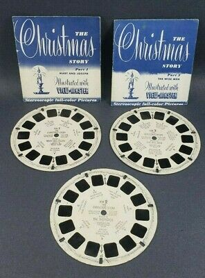 VIEW MASTER Viewmaster The Christmas Story 3 Reels with 2 Booklets  READ