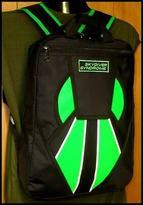 Skydiver Syndrome Backpack Parachute Mini Container Rig Gym Book Bag Green S08