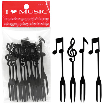 Music Notes Plastic Fork Set (Set of 12)